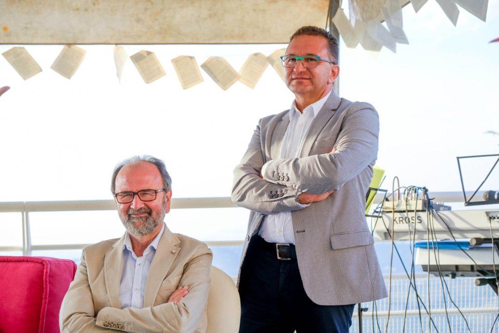 Delle Monache con il rettore dell'università di Teramo, Dino Mastrocola