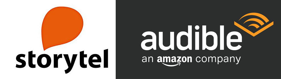 loghi audible e storytel